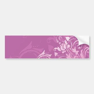 diseño floral del remolino rosado bonito pegatina de parachoque