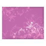 diseño floral del remolino rosado bonito flyer personalizado