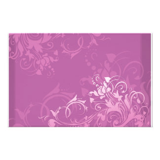 diseño floral del remolino rosado bonito personalized stationery