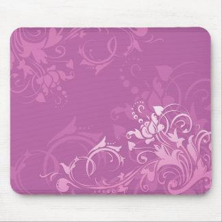 diseño floral del remolino rosado bonito tapete de ratón