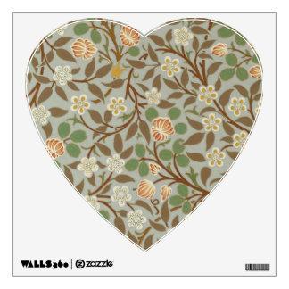 Diseño floral del trébol de William Morris del Vinilo Adhesivo