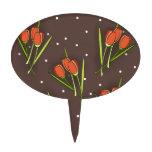Diseño floral del tulipán figura de tarta