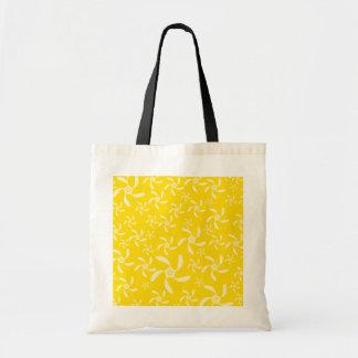 Diseño floral del verano. Amarillo soleado Bolsas De Mano