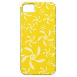 Diseño floral del verano. Amarillo soleado iPhone 5 Cárcasas