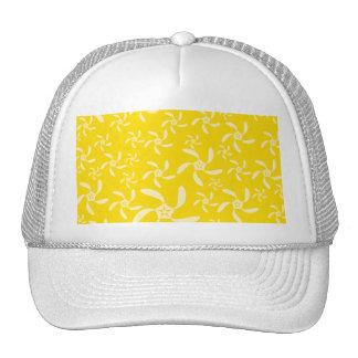 Diseño floral del verano. Amarillo soleado Gorros Bordados