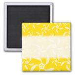 Diseño floral del verano. Amarillo soleado Iman