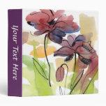 """Diseño floral del verano con el extracto pintado a carpeta 1 1/2"""""""