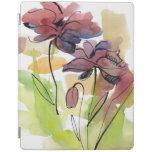 Diseño floral del verano con el extracto pintado a cover de iPad