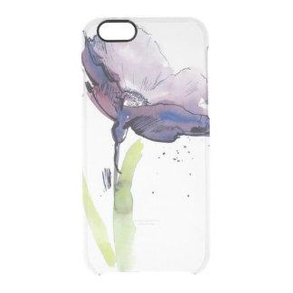 Diseño floral del verano con el extracto pintado a funda clear para iPhone 6/6S