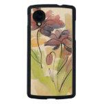 Diseño floral del verano con el extracto pintado a funda de nexus 5 carved® slim de arce