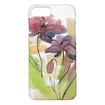 Diseño floral del verano con el extracto pintado a funda iPhone 7