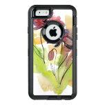 Diseño floral del verano con el extracto pintado a funda OtterBox defender para iPhone 6