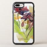 Diseño floral del verano con el extracto pintado a funda OtterBox symmetry para iPhone 7 plus