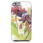 Diseño floral del verano con el extracto pintado a funda resistente iPhone 6