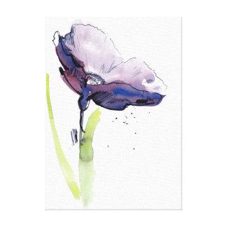 Diseño floral del verano con el extracto pintado a impresión en lienzo estirada