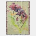 Diseño floral del verano con el extracto pintado a manta