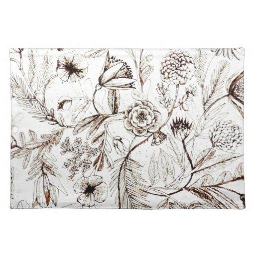 Diseño floral del Victorian antiguo impresionante Mantel