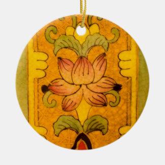 Diseño floral del vintage adornos de navidad