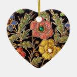 Diseño floral del vintage colorido de las cuentas  ornamento para reyes magos
