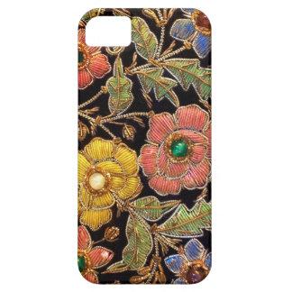 Diseño floral del vintage colorido de las cuentas iPhone 5 fundas