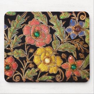 Diseño floral del vintage colorido de las cuentas mouse pad