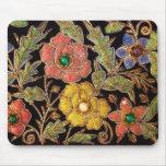 Diseño floral del vintage colorido de las cuentas  alfombrillas de raton