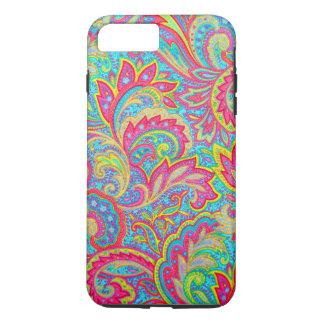 Diseño floral del vintage colorido lindo funda iPhone 7 plus
