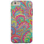 Diseño floral del vintage colorido lindo funda para iPhone 6 plus tough