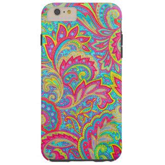 Diseño floral del vintage colorido lindo funda resistente iPhone 6 plus