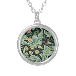 Diseño floral del vintage de William Morris - de Collar Plateado