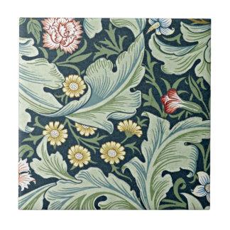 Diseño floral del vintage de William Morris - de L Azulejo Cuadrado Pequeño