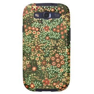 Diseño floral del vintage galaxy s3 funda