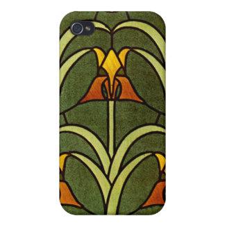 Diseño floral del vintage iPhone 4/4S fundas