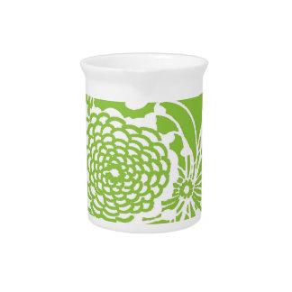 Diseño floral del vintage jarron