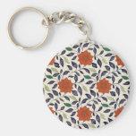 Diseño floral del vintage llavero personalizado