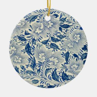 Diseño floral del vintage ornamento de navidad