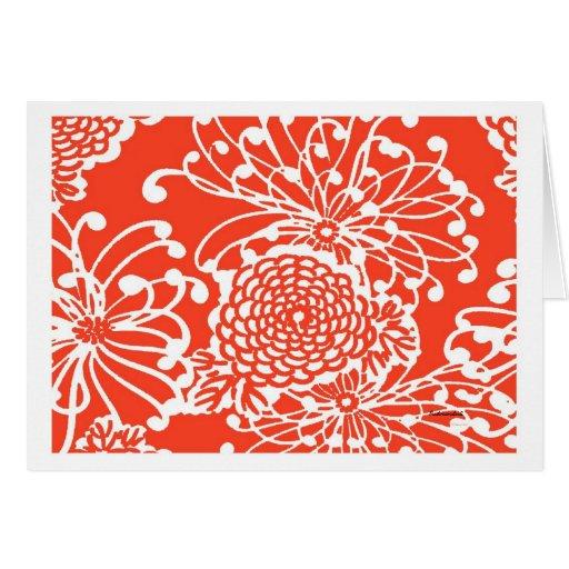 Diseño floral del vintage tarjeta pequeña