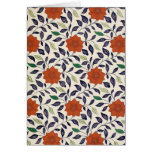 Diseño floral del vintage tarjetón