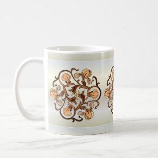 Diseño floral del vitral - taza 1