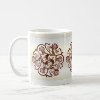 Diseño floral del vitral - taza 2