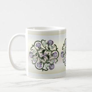 Diseño floral del vitral - taza 3