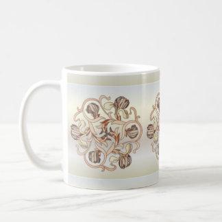 Diseño floral del vitral - taza 4