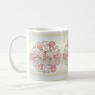 Diseño floral del vitral - taza 5