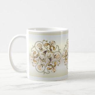 Diseño floral del vitral - taza 6