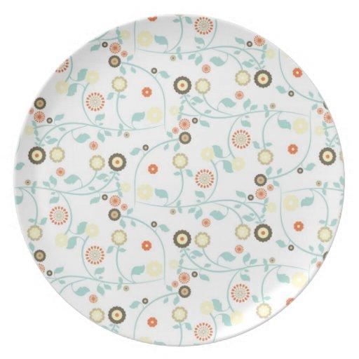 Diseño floral delicado plato