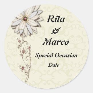Diseño floral elegante de la ocasión especial etiqueta