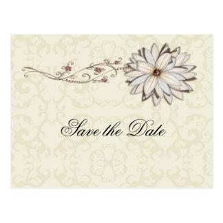 Diseño floral elegante de la ocasión especial tarjetas postales