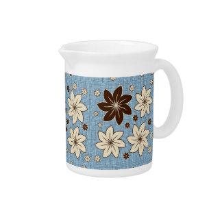 Diseño floral en azul jarras
