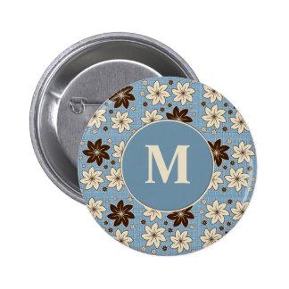 Diseño floral en azul pin