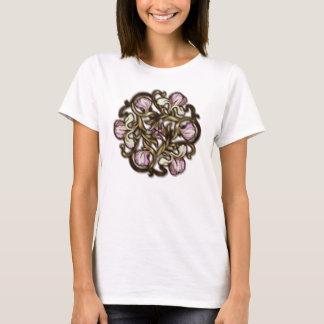 Diseño floral en colores pastel áspero - camiseta